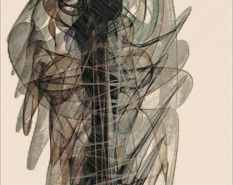 Movement. Original modern art print .Signed.  Limited edition
