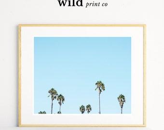 Palm Tree Print, Palm Tree Decor, Tropical Print, Beach House Decor, Palm Tree Wall Art, Beach Art Print, Printable Art
