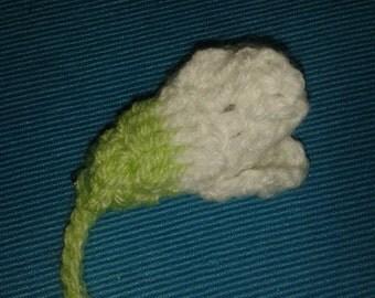 Crochet Snowdrop Brooch
