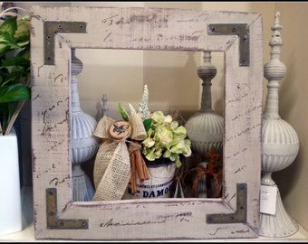 Recycled wood FRAME shabby style
