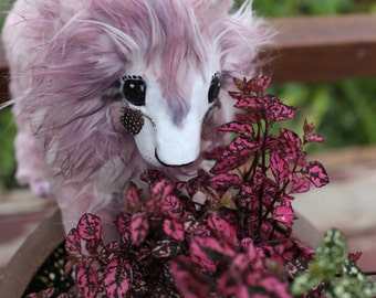 Pink Lion Cub -Posable OOAK doll