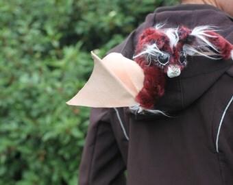 Red Velvet Batling -Posable OOAK bat doll
