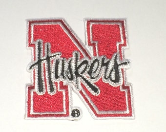 Nebraska Cornhuskers embroidered iron on patch