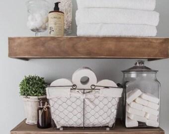 Two Rustic Wooden Towel Rack, Towel Rack, Rustic Bathroom Decor, Bathroom Rack, Bathroom Decor, Wooden Towel Rack, Gifts, floating shelfs