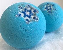 Wishful Thinking Bath Bomb; Peppermint Meringue Bath Bomb; Aromatherapy; Jumbo Bath Bomb; winter bath bomb; glitter bath bomb; coupon code