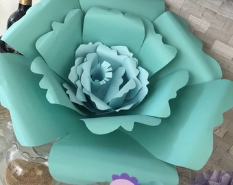 Card stock flowers can do any color any theme