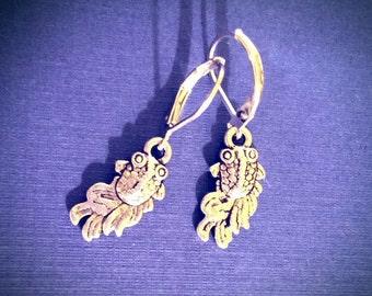Koi Earrings / Earrings / Vintage Earrings / Goldfish Earrings / Silver Earrings