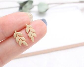 Leaves Stud Earrings
