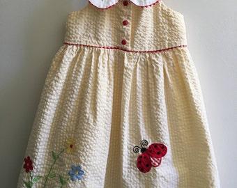Vintage Thomas Girl's size 5 Yellow Halter Dress