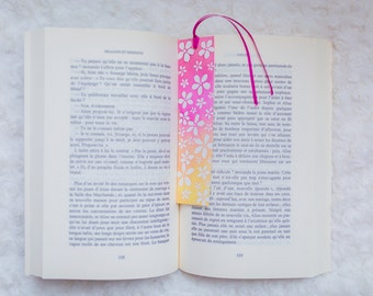 Bookmark stylized cherry flowers