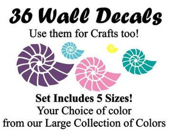 36~Multi-sized Conkle Shellsticker or wall decal