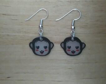 Monkey kawaii earrings 3