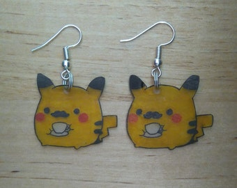 Coffee Pikachu earrings