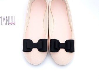 Black bows - shoe clips Manuu