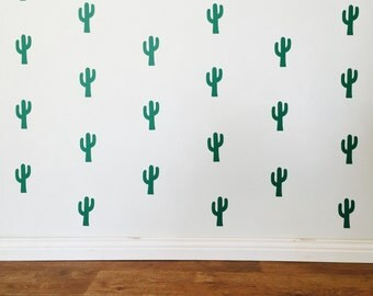 Cactus Wall Decals - Removable vinyl wall decals/stickers