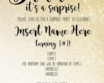 Shh.. Its a Surprise Invitation! Any age!