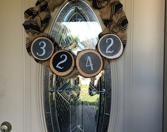 Burlap Address Wreath