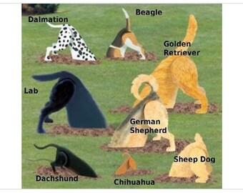 Handmade Digging Dog Lawn Art