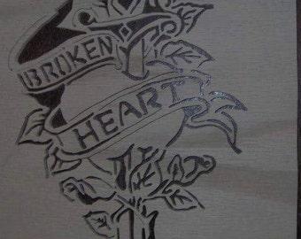 Broken heart portrait