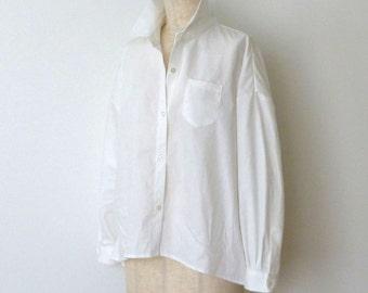 drop-shoulder oversize white shirts (コエリブラウス)