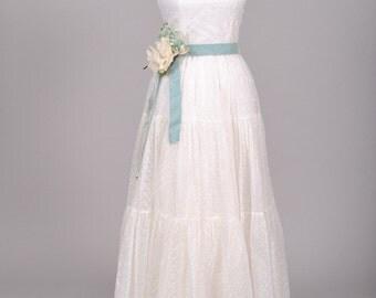 1940 Voile Vintage Wedding Gown