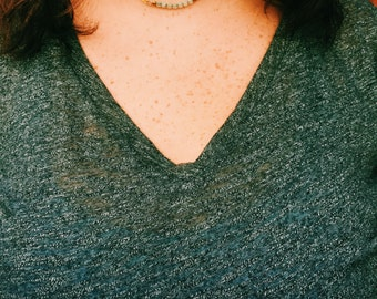 The Lucy-- Dainty Beaded Choker