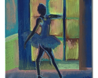 Ballerina Painting- Modern Painting- Abstract Figure Painting-Original Acrylic Painting- Contemporary Painting