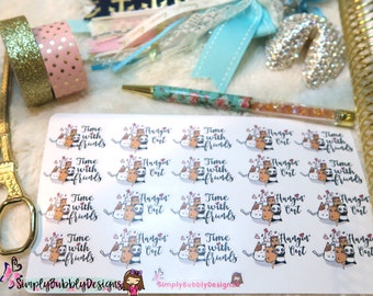 Planner Stickers - Time with Friends Stickers 014