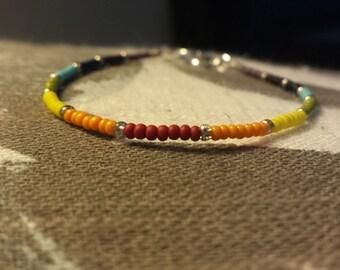 Rainbow Sead Bead Bracelet