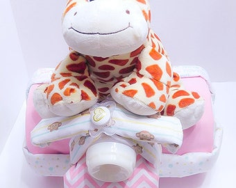 Baby Girl Tricycle Diaper Cake / Diaper Tricycle Cake / Diaper Cake Baby Gift