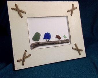Sea Glass Art- birds