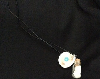 Seashell and Bottle Necklace