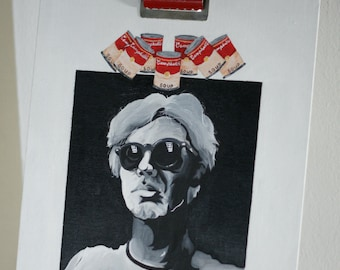 Acrylic Painting of Andy Warhol