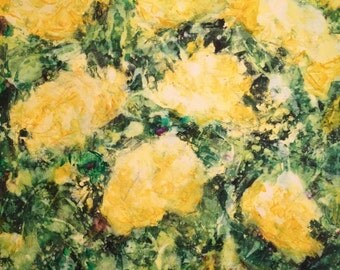 Large Yellow Roses