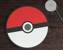 Pokémon Glass Round Cutting Board, Red Pokemon Ball Cutting Board