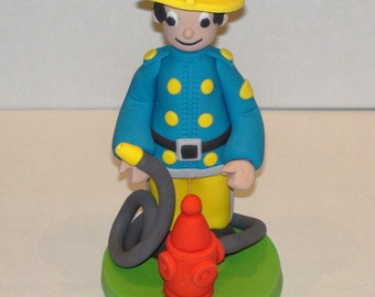 Fire fighter Cake Topper