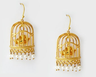 Bird Cage Earrings / 1034