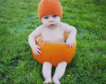 Little Pumpkin Baby Hat