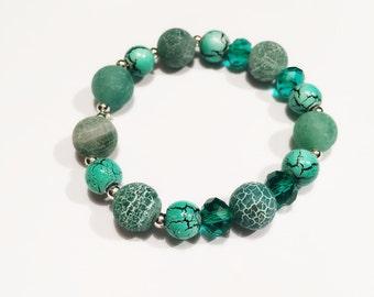 Turquoise Beaded Elastic Bracelet
