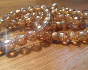 champagne beaded bracelet