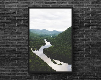Mountain River Photo - River Photography - Mountain Photography - Nature Photography - Vertical - Mountain Wall Art - Nature Wall Decor