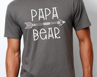 papa bear shirt (white design), daddy bear shirt, father gift, dad gift