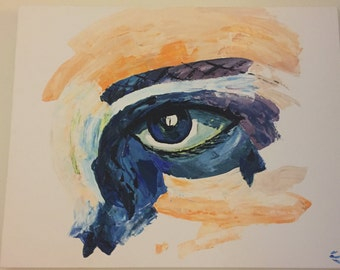 Eye canvas painting