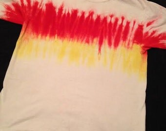 Tie dye stripe tee shirt- Youth L