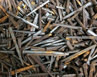 "Vintage Square head nails - 1-1/2"" length - (lot of 100pcs)"