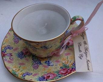 Vintage Wedding Favour Candle Cup Grimwades Welbeck Pattern Hand Made Interior Design BoutiqueByDanielle  Wedding Gifts