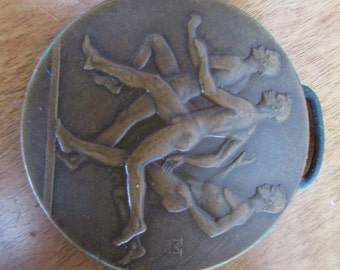 CIAA Track and Field Three Runner Athletic Vintage Medal
