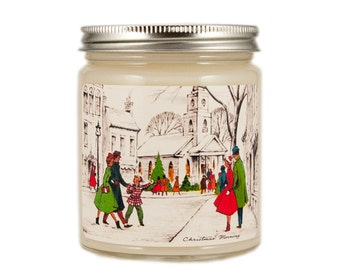 Christmas Morning Candle, Custom Scented Candle, Vintage Candle, Container Candle, Soy Candle, Christmas Candle, Holiday Candle