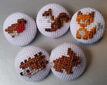 Woodland Critters Buttons