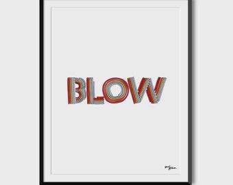 "Beyonce ""Blow"" Neon Letters 8.5 x 11 Print"